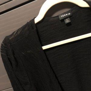 Torrid black drape cardigan
